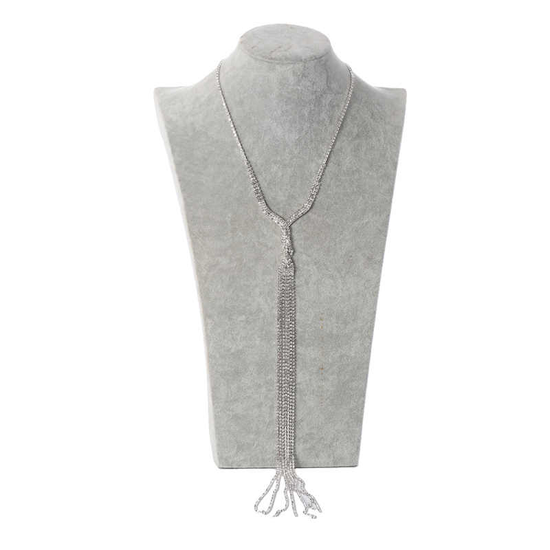 Europäischen und Amerikanischen braut hochzeit temperament multi-schicht silber-überzogene wasser bohrer klaue kette anzug Halskette Ohrringe