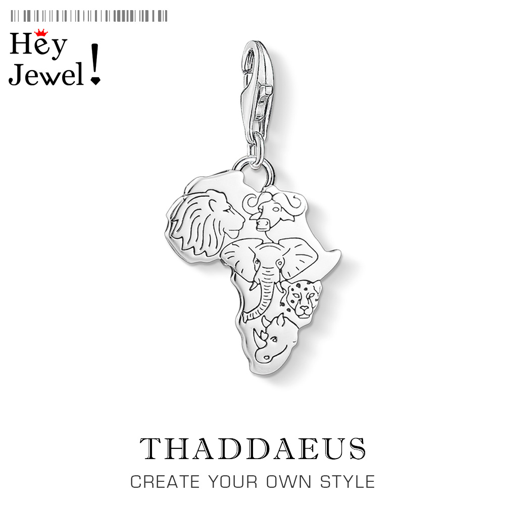 Charm Pendant Africa,2019 Thomas Jewelry For Women Men Trendy Rulers Of The Savanna Gift In 925 Sterling Silver Fit Bracelet