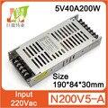 5V40A200W Ultra-fino display LED interruptor de alimentação, P10-P3 Indoor P16 ao ar livre da Cor Cheia de Exibição da fonte de alimentação