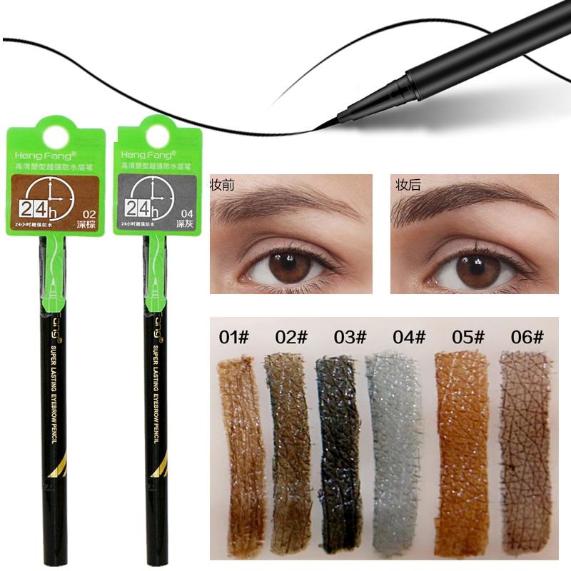 Hengfang brand makeup eyes tattoo long lasting black brown for Tattooed eyeliner brand