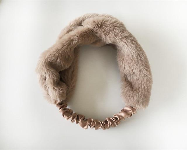 New Hot Womens Burgundy Turban Headband Faux Fur Twist Bow Knot Headband  Elastic Headwrap Turban 4298b4bc3a6