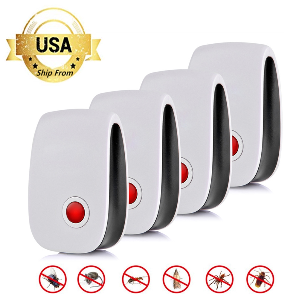 2 / 4 / 6 / 8 Update Ultrasonic Pest Repeller Elektronisk Insekt Remedies Anti Mosquito Killer Insect Repelent Rejector USA Andet