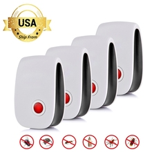 2/4/6/8 Pack Ultrasonic Pest Repeller Electronic Insect Repellent Killer Anti Mosquito Insect Repelent Rejector USA Dropshipping