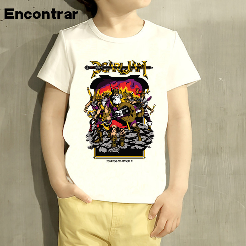 Kids Pearl Jam Rock Band Design Baby Boys/Girl TShirt Kids Funny Short Sleeve Tops Children Cute T-Shirt,HKP3049