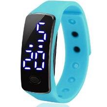 Оптовая продажа Молодежной моды мужчина студент led девочек мужские Мужчины Часы спорта кольцо любителей электронной Цифровой Открытый дети Горячая часы