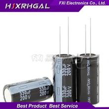 5PCS 200v330uf 330uf220v 18*35 Electrolytic capacitor 200v 330uf 18×35