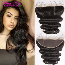 Body Wave Ear To Ear Frontal Closure With Baby Hair Wet And Wavy Peruvian Full lace Frontal Closure Virgin Hair Free Part #1B