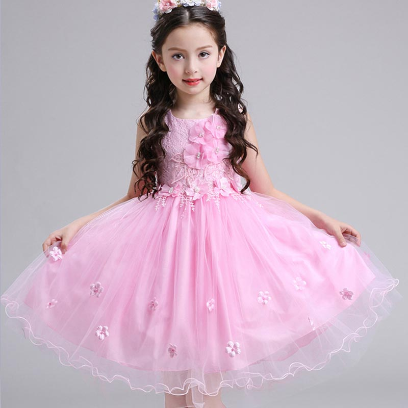 Girl Birthday Outfits Dresses Kids Princess Wedding Prom Party Pink tulle White Big Bow Lace Dress Evening Party Formal Wear new high quality fashion excellent girl party dress with big lace bow color purple princess dresses for wedding and birthday