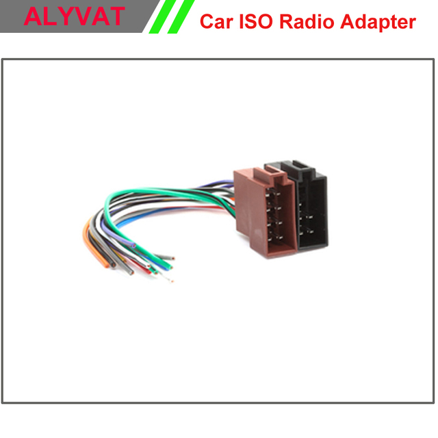 free shipping universal car dvd gps female iso radio wiring harness wire  cable auto stereo adapter
