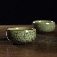 2 stücke Longquan Celadon Porzellan Tee-Tasse Tee Retro Riss Tassen Kaffee Becher Küche Bar Artikel