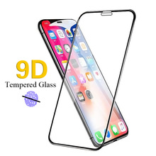 9D Protective Glass for iPhone 7 Screen Protector 8 Xr Xs Max Tempered on  film