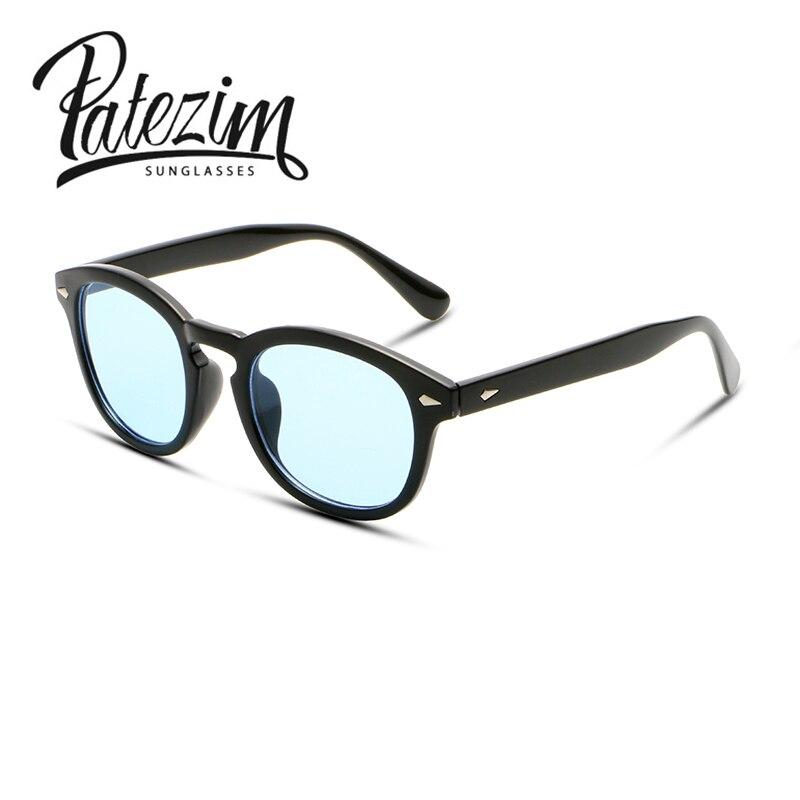 Johnny Depp Superstar gafas de sol hombre caliente nuevo moda vintage remaches gafas de marca Sun oculos gafas de sol