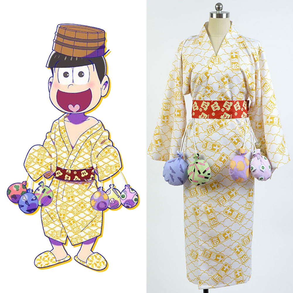 Osomatsu-kun cosplay Touximatsu Yukata Kimono Costume full set bathrobe cosplay Halloween Party Carnival Christmas Costume