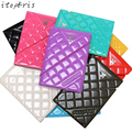 Fashion PU Leather Russian Passport Cover Women Plaid Pattern Travel Document Passport Holder Ticket Pouch passport Case