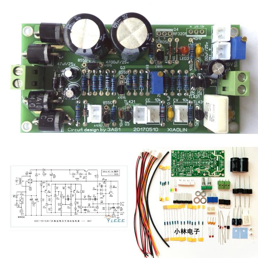 Variable Linear DC Power Supply 0-15V 5v 12v  0-5A Voltage Regulated Adjustable Constant Current Lab Kit LM317