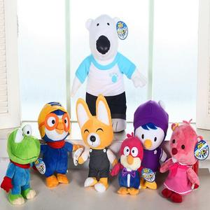 Kawaii Korea Pororo Little Penguin Plush Toys Doll Pororo and His Friends Stuffed Anime Plush Toys Brand Toy Personality Gift