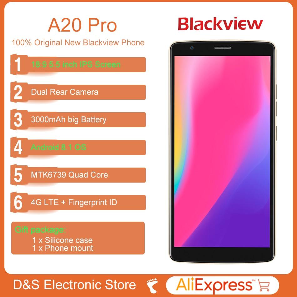 Blackview A20 Pro 4G LTE téléphone portable MTK6739 Quad Core 2 GB RAM 16 GB ROM Android 8.1 8.0MP 3000 mAh 18:9 HD 5.5 pouces Smartphone - 2