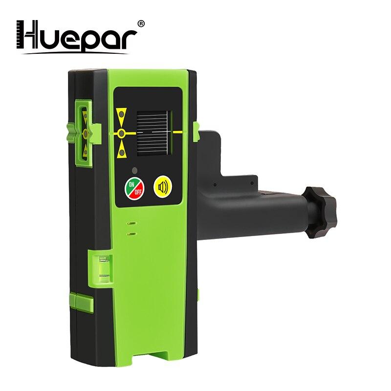 Huepar Modo Ao Ar Livre Receptor Digital LCD Laser Detector Detectar Pulsando Vermelho & Verde Feixe de Laser Cruz Linha Nível Laser Com braçadeira