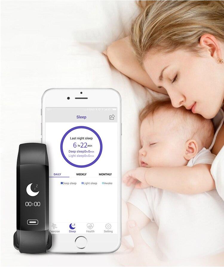 TEZER R5MAX smart Fitness Bracelet Watch intelligent blood pressure heart rate Blood oxygen 50 LETTERS SMS APP Message push 7