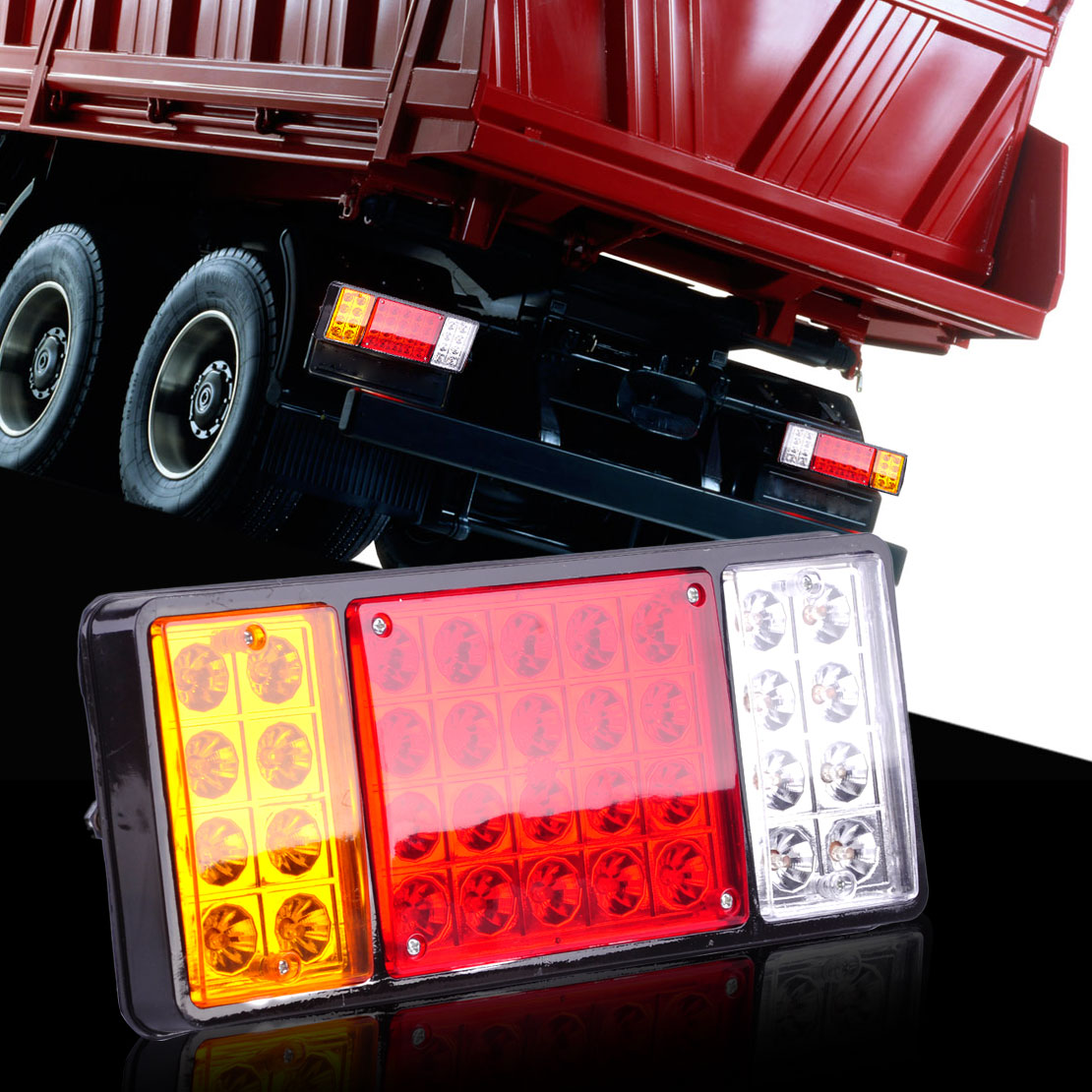 beler New Waterproof Truck 36 LED Rear Light Tail/Brake Stop Lamp Reverse Indicator Trailers Truck Ute Boat Van Caravans 12V car styling tail lights for toyota highlander 2015 led tail lamp rear trunk lamp cover drl signal brake reverse
