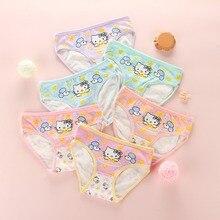 hot deal buy 8pcs/ lot baby girls panties 2018 new kids underwear cotton cute cartoon cat printed child briefs boxer underpants