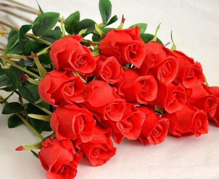 진짜 터치 우아한 PU 로즈 인공 꽃 시뮬레이션 크리스마스 장식 꽃다발 꽃에 대 한 결혼식 센터 장식 장식