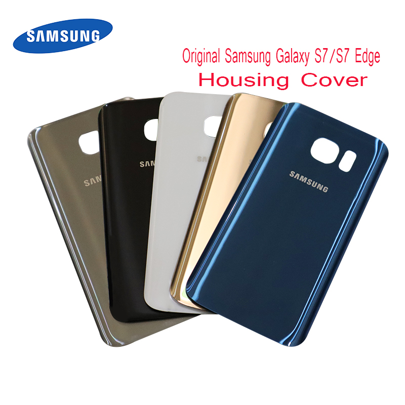 Samsung Cover Housing-Case Glass Back-Battery Original G935F Galaxy G930f/s7-Edge Rear
