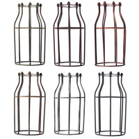 Lamp Cover Retro Vintage Pendant Chandelier Light Bulb Guard Wire Cage Industrial Ceiling Hanging Fitting Bars
