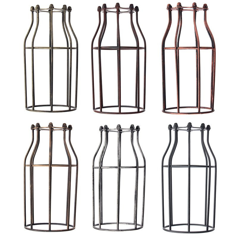 Lamp cover retro vintage pendant chandelier light bulb guard wire lamp cover retro vintage pendant chandelier light bulb guard wire cage industrial ceiling hanging fitting bars cafe lamp shades in lamp covers shades from keyboard keysfo Gallery