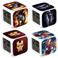 19 style Iron Man Night Light Clock Popular Square LED Colorful Digital Electronic Clock Popular Games Small Gift #F