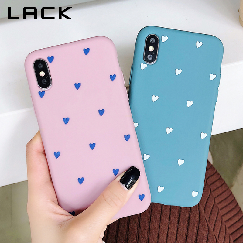 LACK Cartoon Couples Phone Case For iphone XS Max Cover Cute Soft TPU Love Heart Cases For iphone X XR 6 6S 7 8 Plus Capa Coque