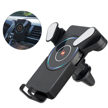W2 2 In 1 Wireless Car Charger Holder Desktop Pad Detachable Vehicular Quick Micro USB Port