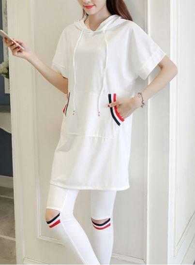 A Casual Suit Hoody Loose Top Pencil Pants Outfit Plus Size Women Hoodies  Slim Trousers 2 Pcs Clothing Set White Black S-4XL 5XL 81b9524ceda0