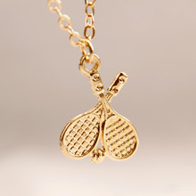 Fashion Battledore Pendant Cute Chain Necklace Women Clavicle Gold Silver Exquisite Statement Necklace fashion carved owl long chain necklace women cute leaf animal pendant clavicle statement necklace jewelry
