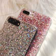 Case for iPhone Silicon Bling Glitter Crystal