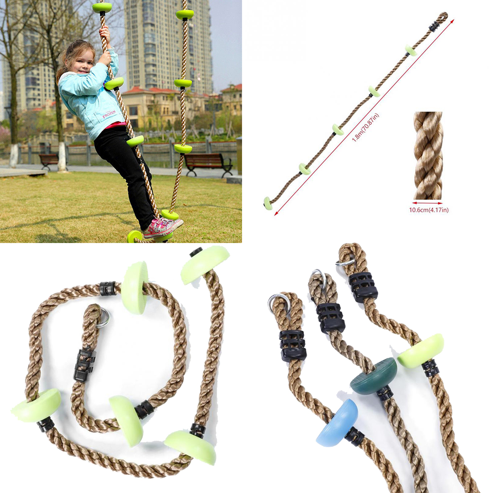 Garden Games Tree Swing Traditional Wooden Seat and Weatherproof Ropes Kids Toy