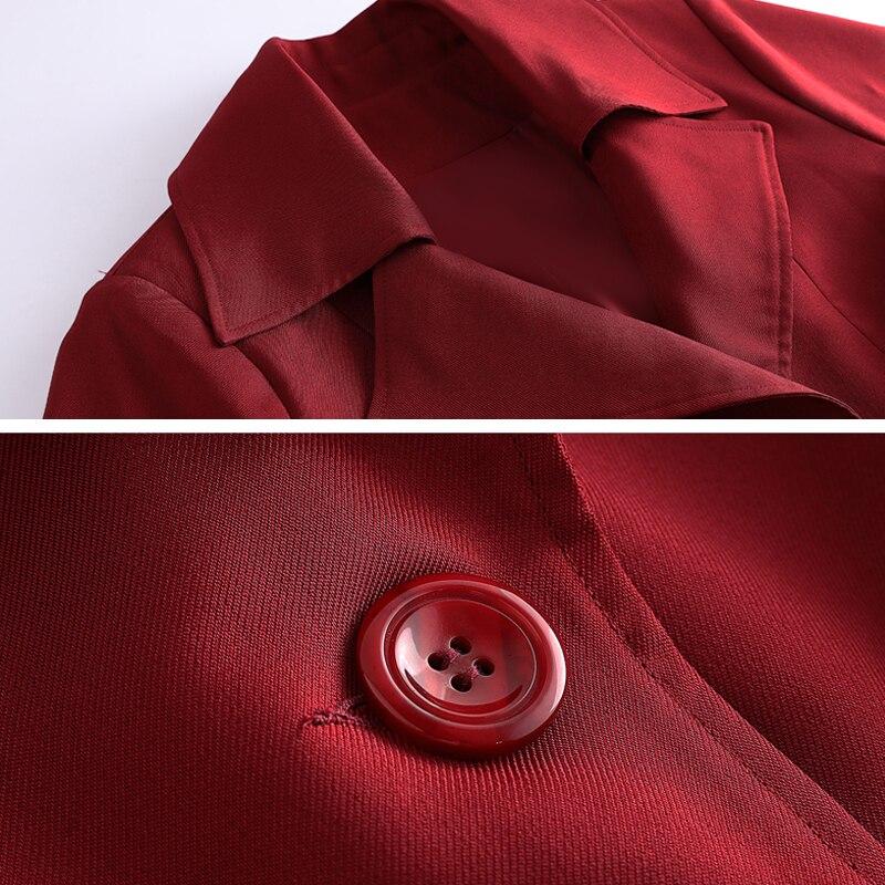 Mère Décontracté Longue 10xl Automne Grande Coupe Taille Lâche Femmes Oversize 2019 Trench rouge Outwear coat Noir vent Livres 200 Lp102 tvt6q5