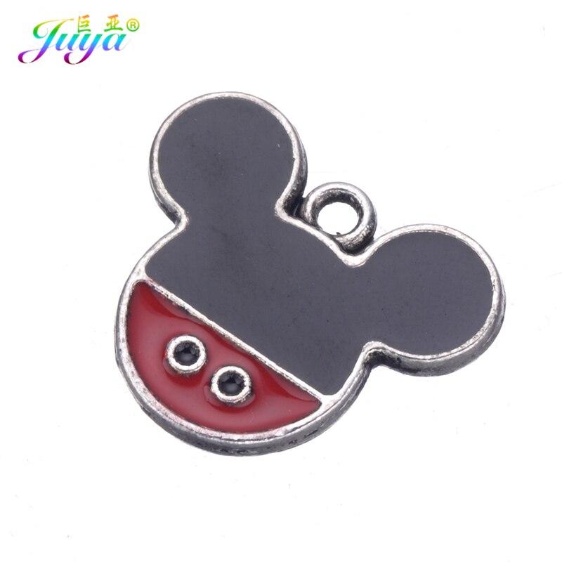 15pcs/lot Wholesale DIY Jewelry Findings Enamel Mickey Minne Charm Pendants Accessories For Women Kids Charms Jewelry DIY Making