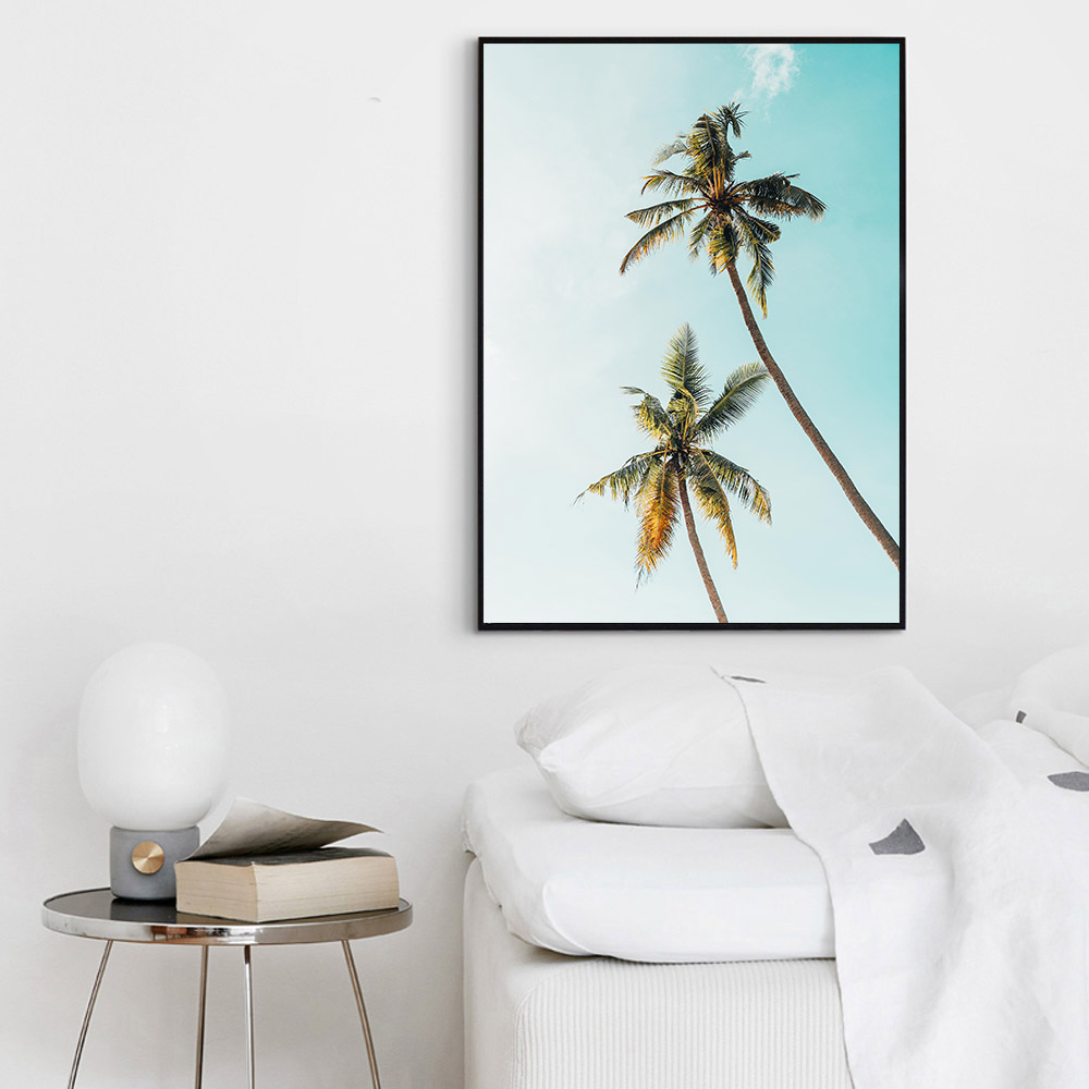 Tropical Sea Palm Tree Wall Art Canvas Painting Travel