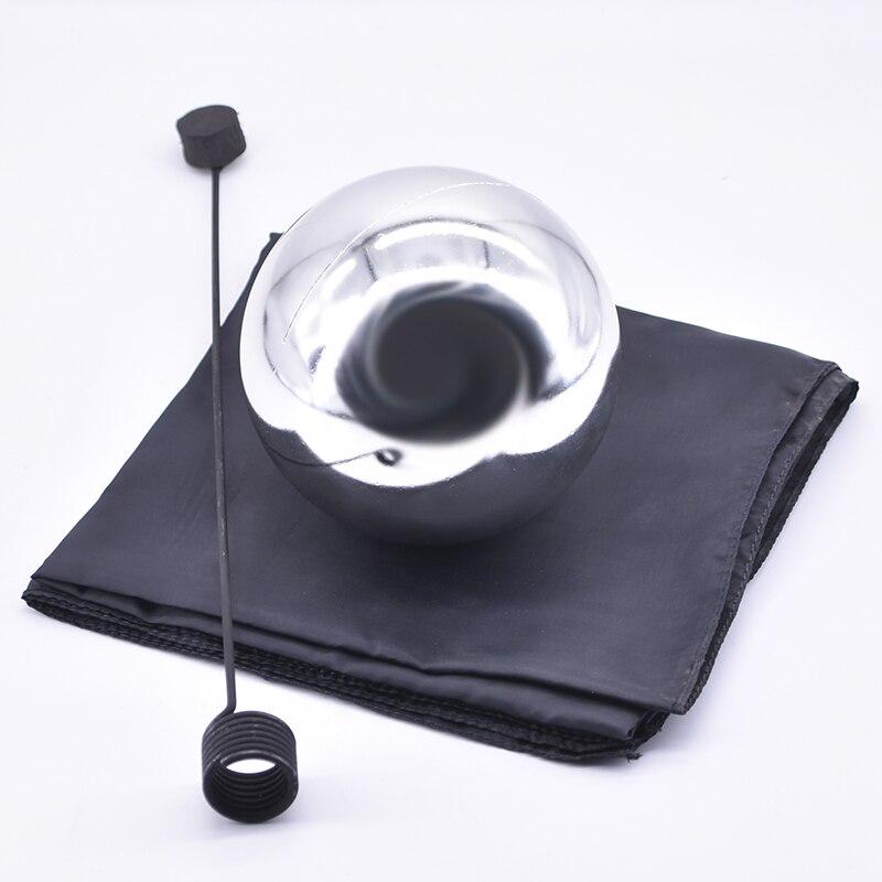 Boule de Zombie avec Foulard, moyen (couleur argent, diamètre 12 cm) tours de magie flottants Illusion scène magique Gimmick accessoires magicien