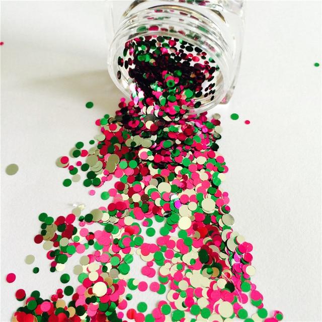 200g/500g Mix Colors DOT SHAPES ROUND GLITTER Round Paillette Sequins Nail Art Decorations Nail Glitter Manicure Gel Nail Polish