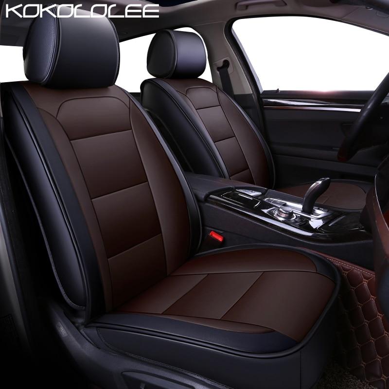 KOKOLOLEE pu leather car seat cover for Volkswagen All Models vw passat b5 6 polo golf tiguan jetta touran touareg car styling