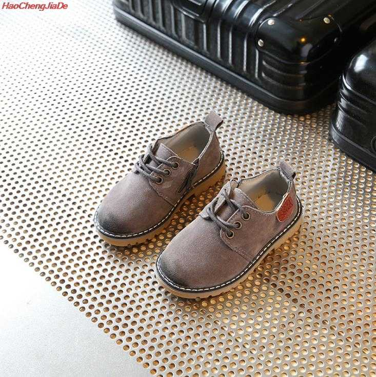 เด็กใหม่ Pu หนังแต่งงานรองเท้าเด็กชายเด็กสีน้ำตาลรองเท้าชายอย่างเป็นทางการแฟชั่นรองเท้าผ้าใบลำลอง