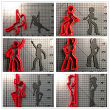 Dancer Girl Custom Made 3D Printed Fondant Cake Decorating Tools Kitchen Accessories Cookie Cutter Set