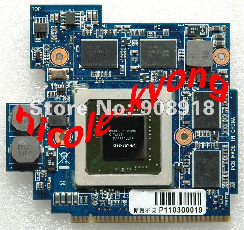 69N0FHV11B02-01 60-NVZVG1000-A02 GTX 260M GTX260M G92-751-B1 DDR3 1GB VGA Video Card for Asus G61GX G71G G71GX G72GX G51VX go6800 b1 g92 700 a2 g92 720 a2 g92 740 a2 g92 975 a2 g92 985 a2 g92 283 b1 g92 284 b1 g92 286 b1 g92 289 b1 stencil