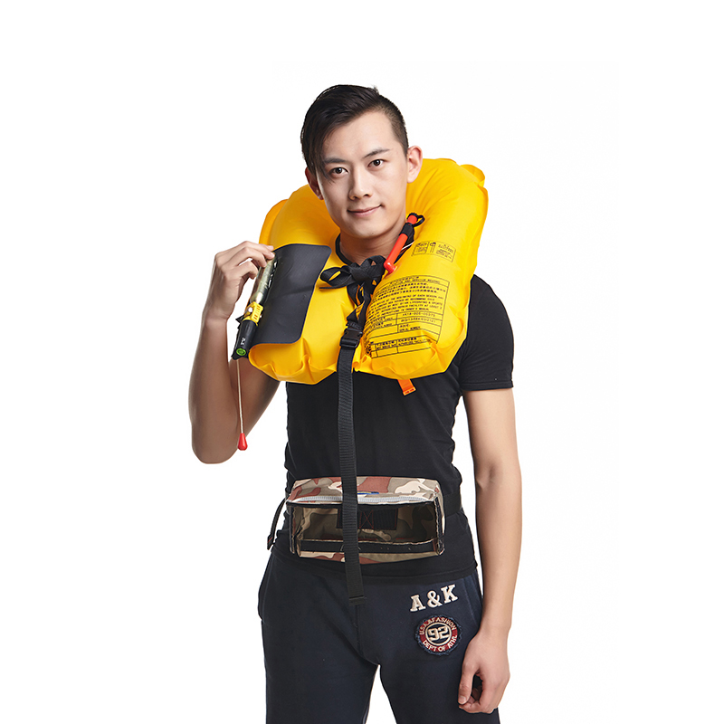 Professional Universal Inflatable Life Jacket Automatic SOLAS Approved Reflective Tape Waist Pocket Style Life Vest neoprene surfing floating life vest rafting snorkeling pfd inflatable kids women men life jacket swimwear swimming jacket life