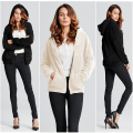 ZANZEA Women 2017 Autumn Casual O Neck Zippers Pockets Slim Warm Long Sleeve Coats Plus Size Hooded Jackets Female Outerwear