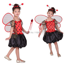 Free shipping! Halloween mischief ladybug fairy costume Children in kindergarten children costumes new children's clothing