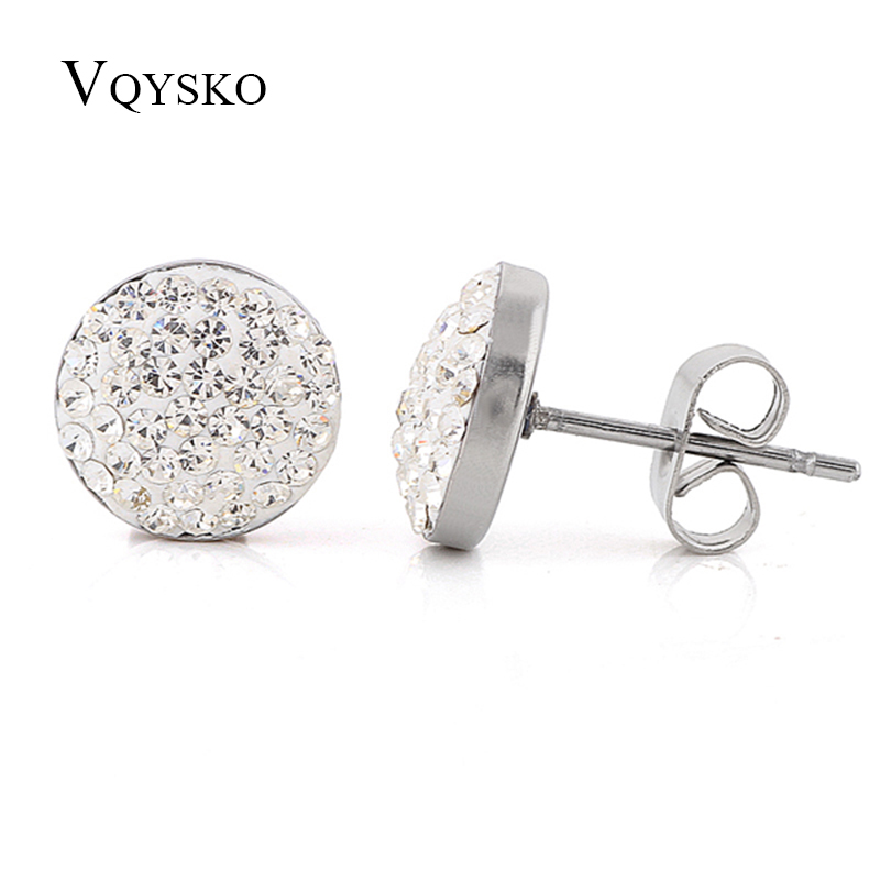 NIBA Christmas gift classic Genuine CZ Crystals Stud earrings,Gift to girlfriend 100% hand made