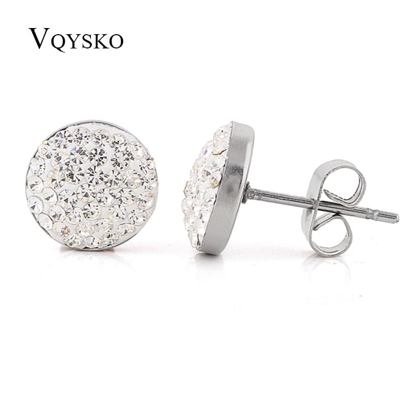 NIBA Christmas gift classic Genuine CZ Crystals Stud earrings,Gift to girlfriend 100% hand made
